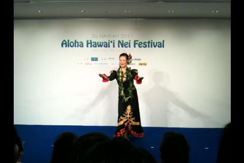 2011年6月22日(水)Aloha Hawaii 'I Nei Festival in JR大阪三越伊勢丹